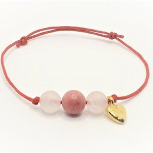 Jewelry - Love is in the air. Red string + Rose Quartz+Rhodo